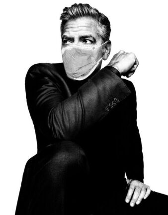 George Clooney - by Platon - with TE mask