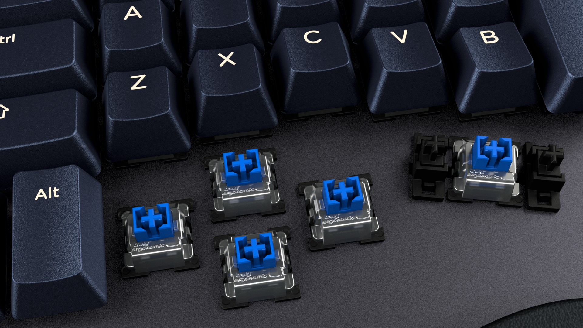 Truly Ergonomic Cleave - Tactile Clicky Optical Infrared Mechanical Switches
