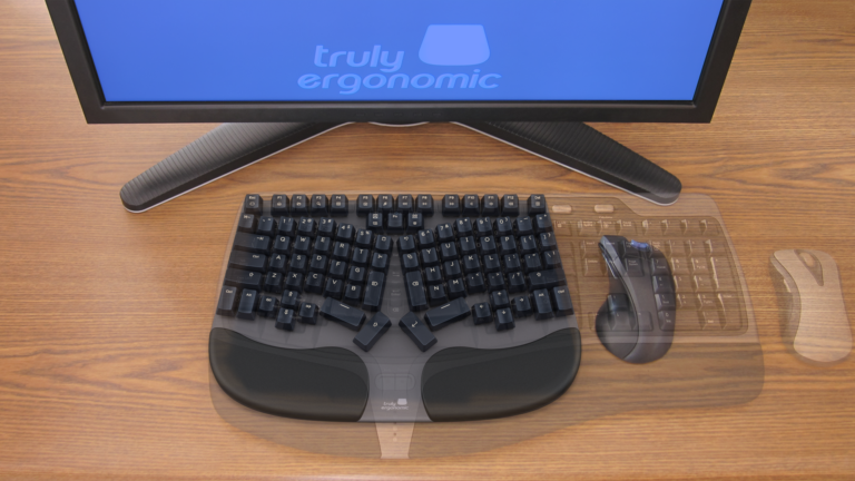 Truly Ergonomic Cleave Keyboard - Narrow Width Full-size Keycaps