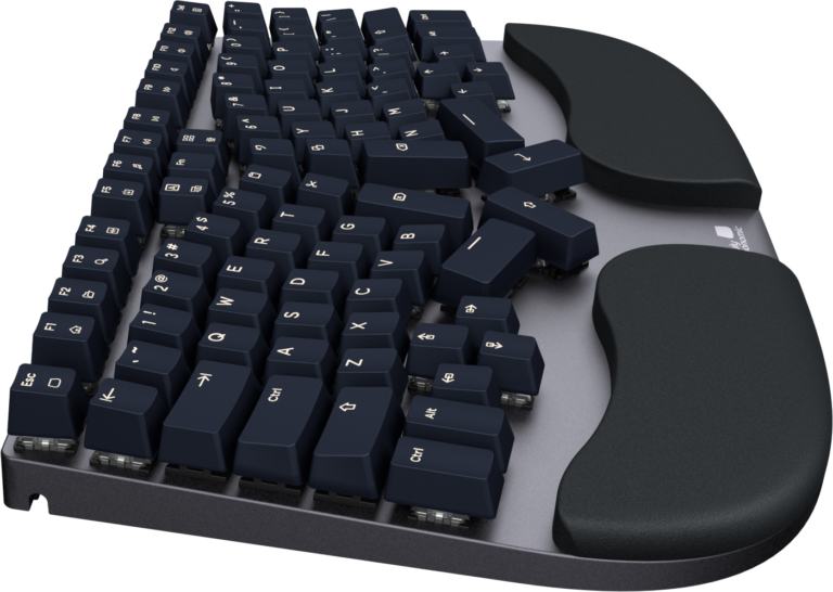 Truly Ergonomic Cleave Keyboard - Solid Slim Unibody made of Aerospace-Grade Aluminum