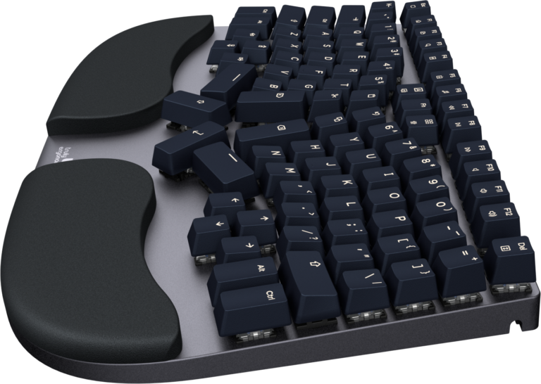 Truly Ergonomic Cleave Keyboard - Soft and Cushioned Palmrest