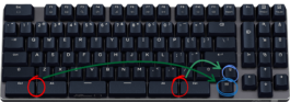 Truly Ergonomic Fasterini Keyboard - how to disable the Windows key