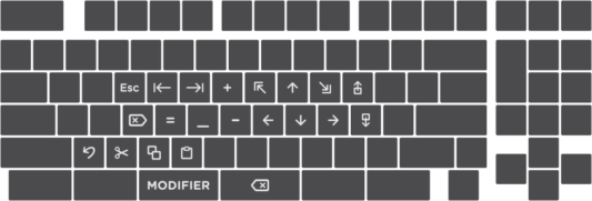 Truly Ergonomic Fasterini Keyboard - Multiple Modifier Layers